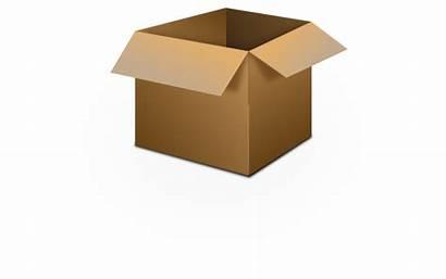 Box Cardboard Open Clipart Clip Boxes Vector