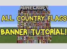 Minecraft 18 All Country Flags On Banner Tutorial