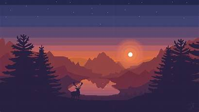 Pixel Firewatch Pc Sunset Aesthetic Cool Wallpapers