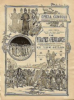 The Pirates of Penzance Programme - Original Production