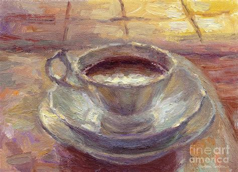 Paint pouring is a subset of acrylic painting and also a fluid art (including alcohol ink and resin art). Coffee Cup Still Life Painting Painting by Svetlana Novikova