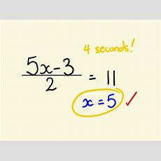 Algebra Shortcut Trick  How To Solve Equations Instantly Youtube