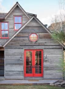 Red Trim Exterior Windows and Doors