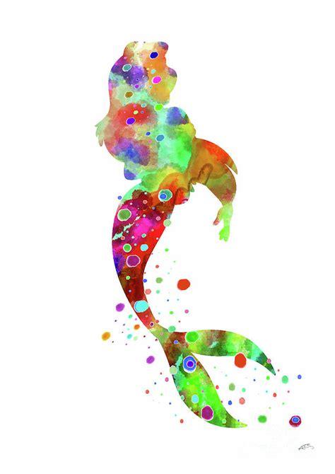 ariel watercolor print digital art  svetla tancheva