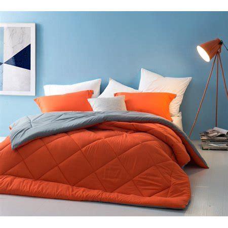 27551 orange and grey bedding orange gray reversible comforter walmart