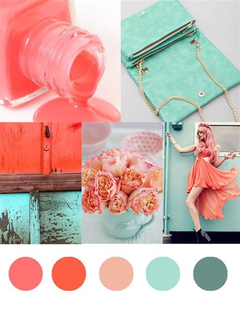 Coral and Seafoam Green Colors