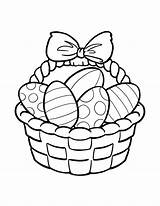 Easter Basket Coloring Pages Getdrawings sketch template
