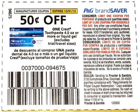 14932 Printable Coupons Crest Toothpaste by Free Crest Toothpaste At Shaw S Starting 10 12 With Coupon