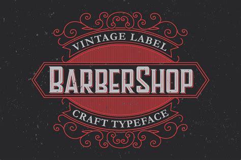 barber label typeface display fonts creative market