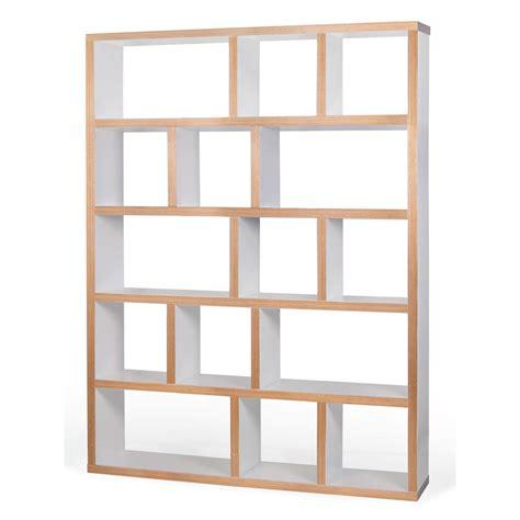canapé 150 cm etagère bibliothèque berlin 5 niveaux 150 cm blanc bois