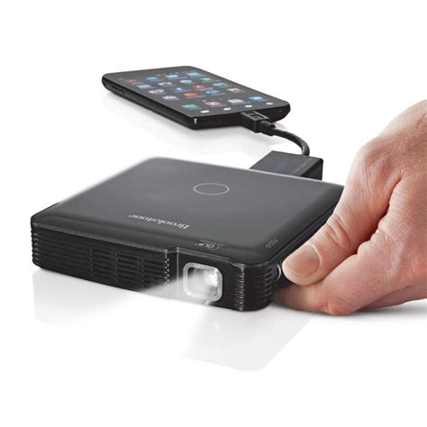 phone with projector brookstone s new pocket projector a excuse for
