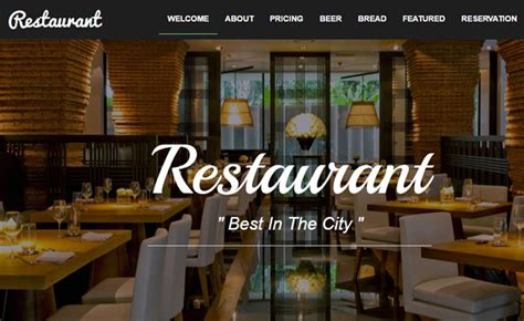 bootstrap food restaurant website template
