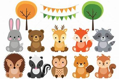 Woodland Clipart Animals Tiere Animal Clip Graphic