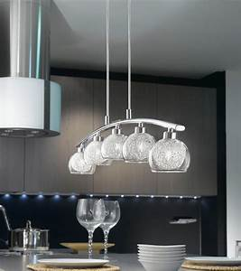 oviedo modern curved 5 light kitchen pendant bar chrome 93054 With 5 lamp kitchen light