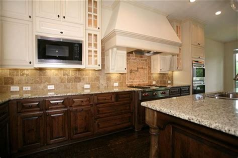 cabinets provide  nice mix  wood stained