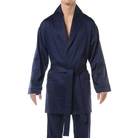 robe de chambre homme courte veste d 39 intérieur hom hugo en coton bleu marine rue des