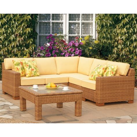 wicker sectional sofa costway outdoor patio 5pc