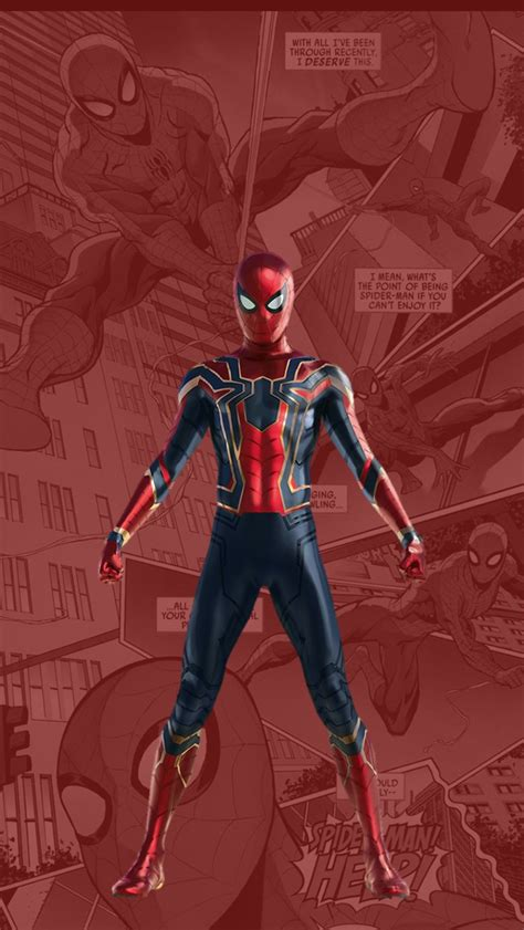 spider man  suit tom holland iphone wallpaper iphone