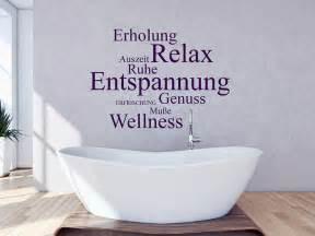 entspannung sprüche wandtattoo worte relax genuss wellness homesticker de