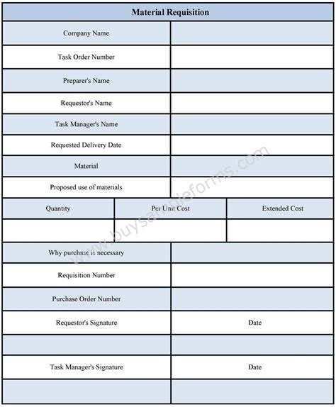material template material requisition form material requisition form format