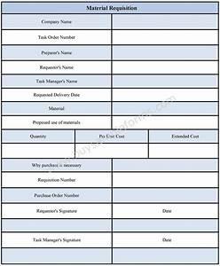 material requisition form material requisition form format With construction material request form template