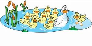 Duck clipart pond cartoon - Pencil and in color duck ...