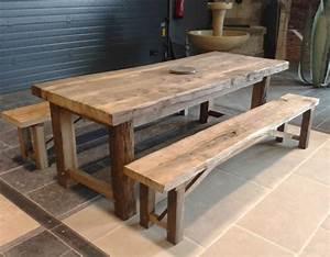 Table Et Banc En Bois : table en vieux bois disponible sur mesure bca ~ Melissatoandfro.com Idées de Décoration