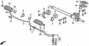 Power Steering Rack Exploded View Diagram