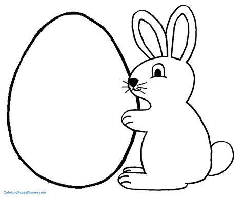 Coloriage Lapin Awesome Coloriage Lapin De Paques Facile