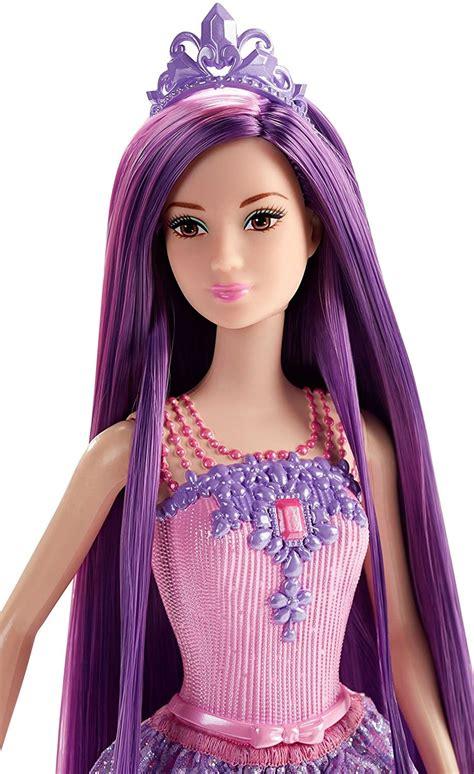 barbie endless hair kingdom princess doll purple barbie
