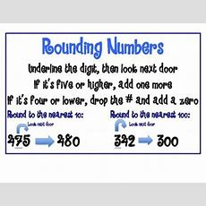 66 Best Images About Rounding On Pinterest  Simple Poster, Student And Math