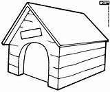 Dog Kennel Colouring Coloring Pages Printable Puppy Dogs Kennels Snoopy Sketch Collar sketch template