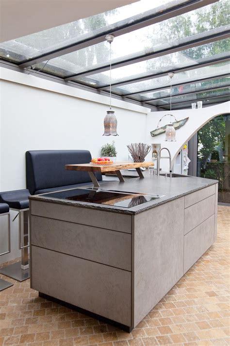 Leicht Küche Beton by Leicht K 252 Che Mit Grauwacke Arbeitsplatte Und K 252 Chenfronten