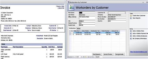 Create Resume Database Access by Access Templates Work Orders Invoice Services Management