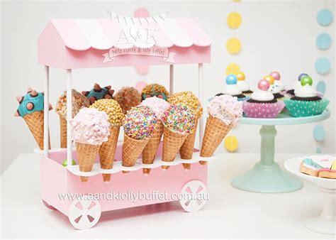 pastel ice cream themed birthday party karas party