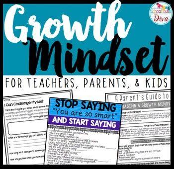 growth mindset activities  parents teachers