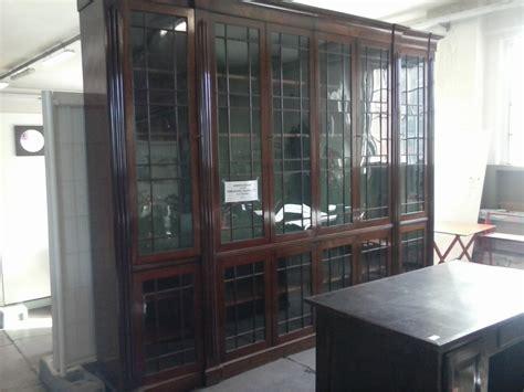 libreria usato libreria in radica noce ante vetro blitz bovisa