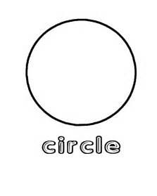 Preschool Circle Shape Coloring Page