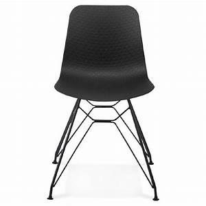 Chaise Pied Metal Noir : chaise design et industrielle venus en polypropyl ne pieds m tal noir noir ~ Teatrodelosmanantiales.com Idées de Décoration