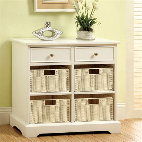 white cabinet with baskets white rectangular accent storage cabinet side table w