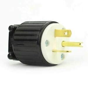 Straight Electrical Plug Wire Amps Nema