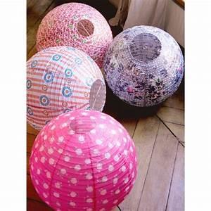 Boule En Papier : boule japonaise rose en papier de riz atw ~ Teatrodelosmanantiales.com Idées de Décoration