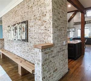 Interior, Brick, Accents, And, Defines, Open, Floor, Plan, In, Modern, Rustic, Home