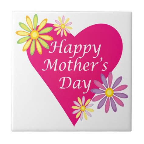 happy mothers day ceramic tiles zazzle