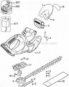 Black And Decker Nht518 Parts List And Diagram