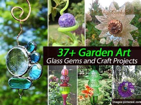 garden art glass gems  craft projects