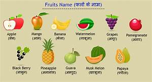 Names of Vegetables and Fruits in Hindi and English ...