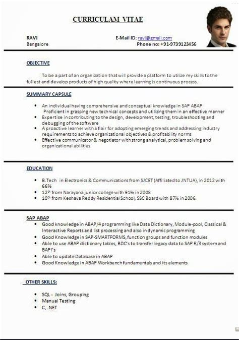 cv format  word file sample template ofbeautiful