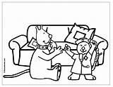 Hospital Coloring Colorear Dibujos Docteur Coloriage Imprimer Peluche Dessins Medico Kleurplaat Dokter Uptoten Imprimir Profesiones Doctors Kleurplaten Medicos Kwala Boowa sketch template