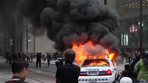 police car set  fire youtube